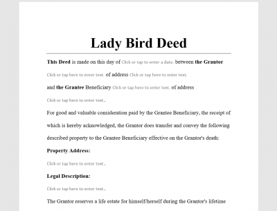 Lady Bird Deed