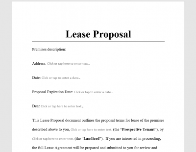 Lease Proposal