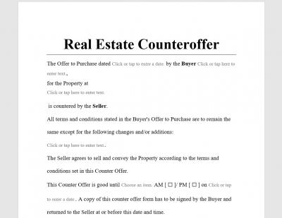 Real Estate Counter Offer Letter from www.antonlegal.com
