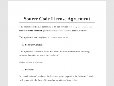 Source Code License Agreement